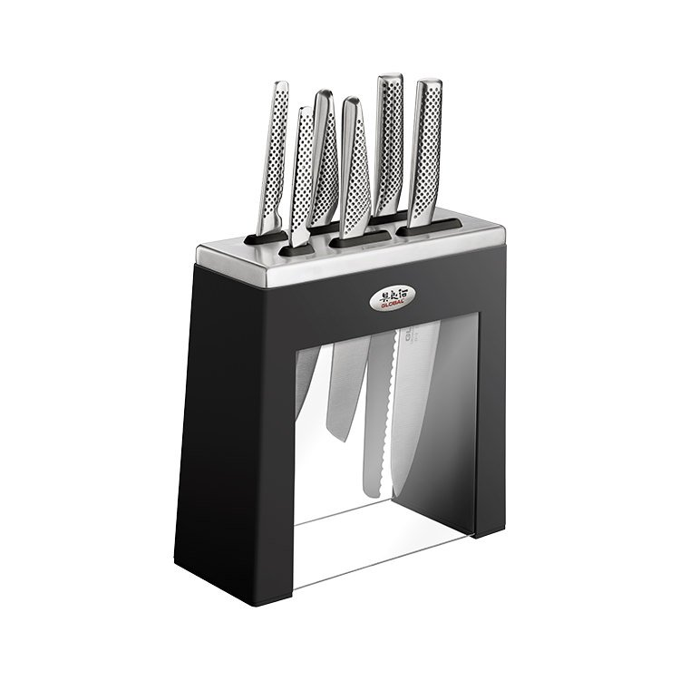 Global Kabuto 7pc Knife Block Black