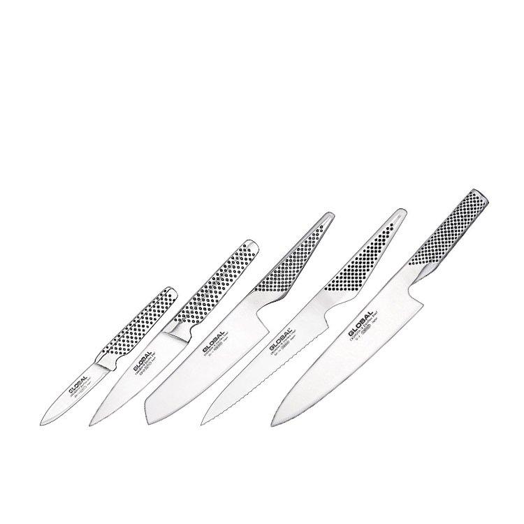 Global Katana 6pc Knife Block Set