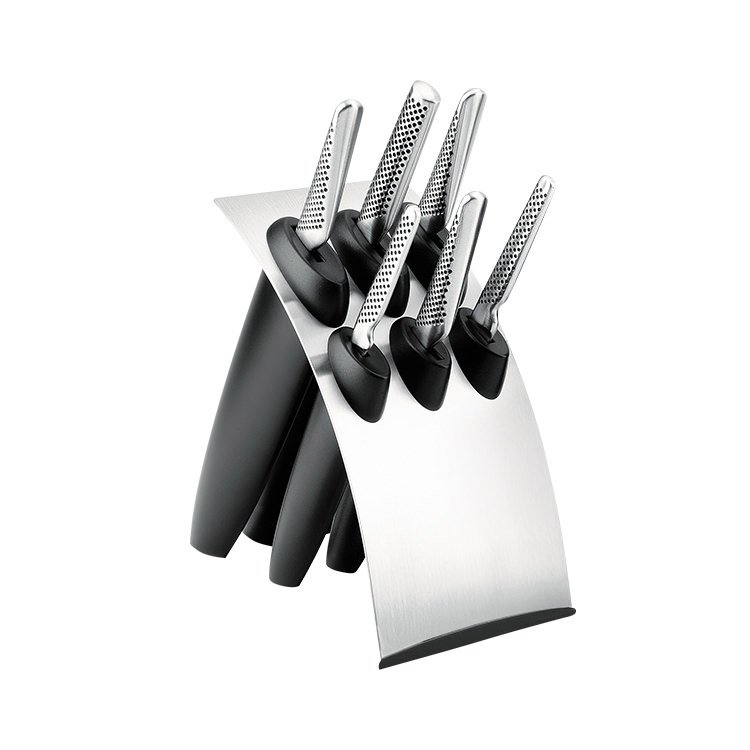 Global Millenium 7pc Knife Block Set