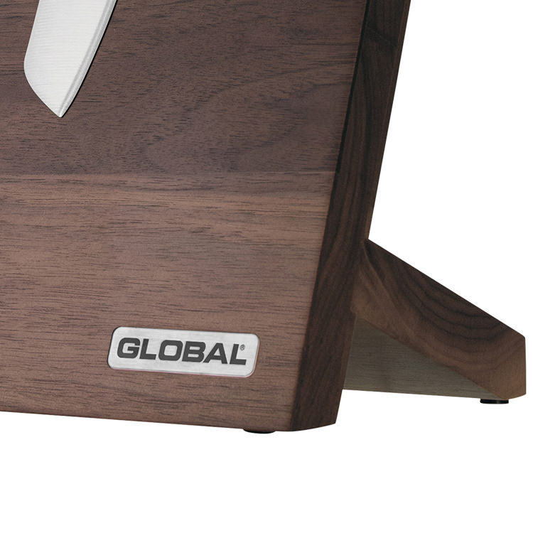 Global Takumi 6pc Knife Block Set Walnut