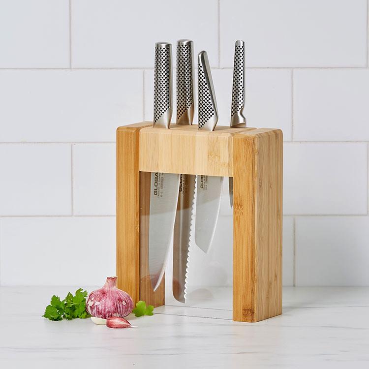 Global Teikoku 5pc Knife Block Set