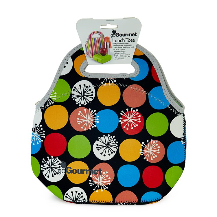 Go Gourmet Lunch Tote Polka Dots