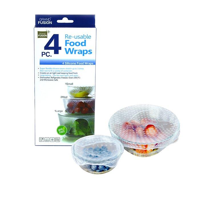 Grand Fusion Silicone Food Wraps Set of 4