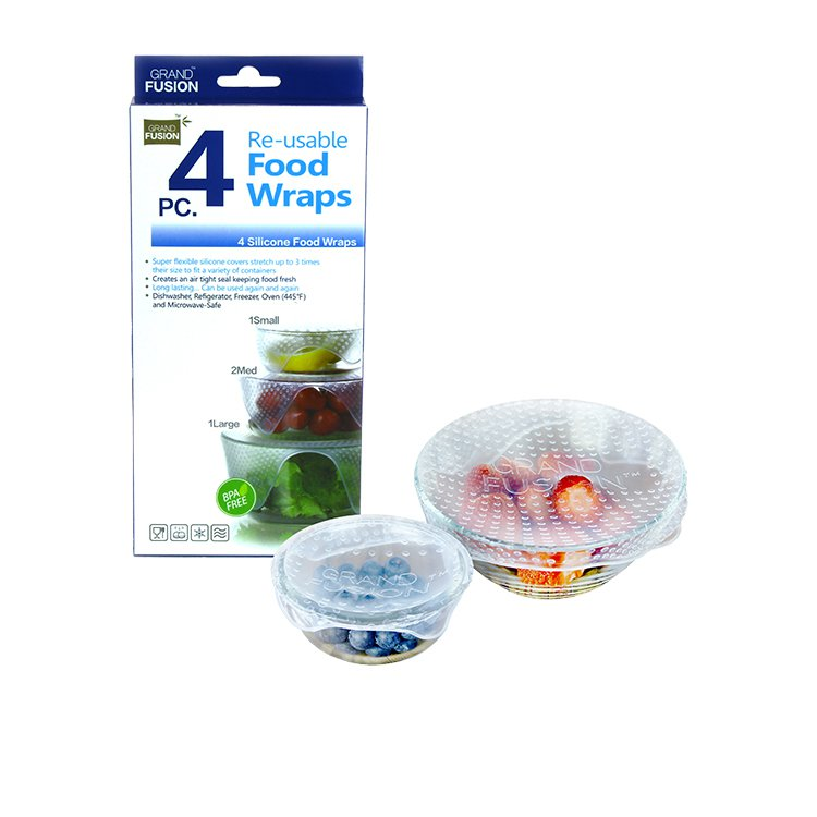 Grand Fusion Silicone Food Wraps Set of 4