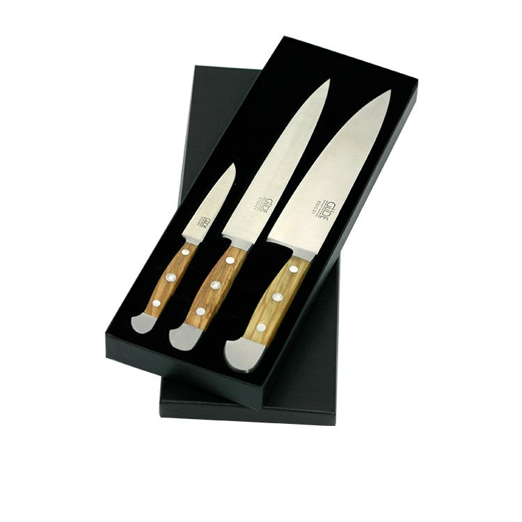 Gude Alpha Olive Knife Set 3pc