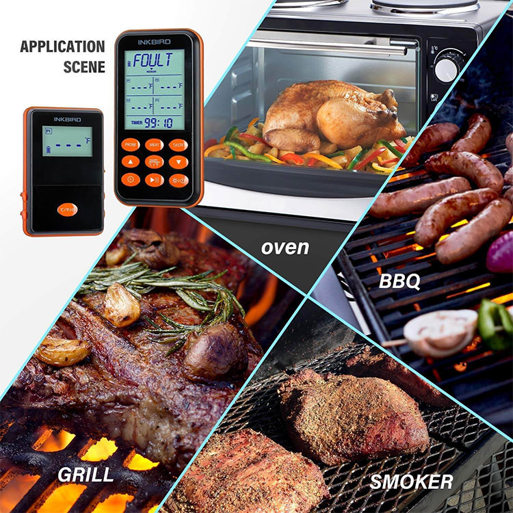 Inkbird IRF-4S 1500ft Waterproof Wireless BBQ Thermometer