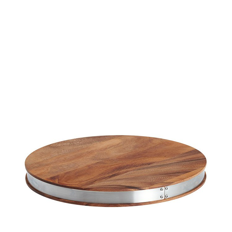 Ironwood Gourmet Steel Round Chop Board