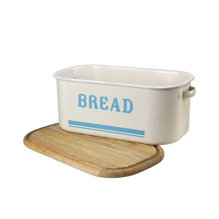 Jamie Oliver Bread Bin Blue with Chopping Board - On Sale Now!