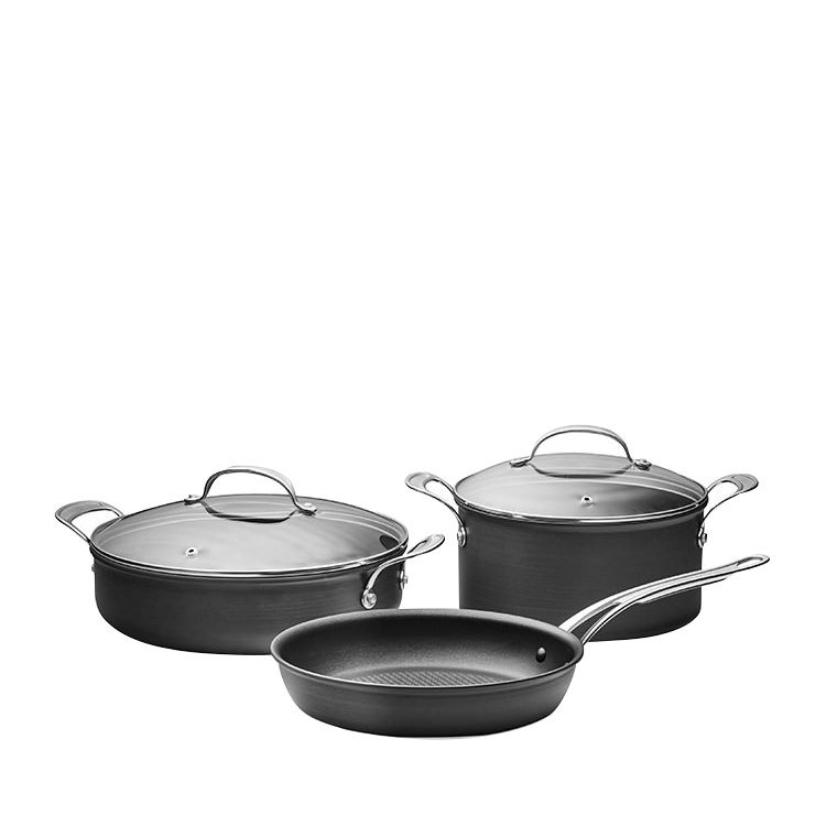 Jamie Oliver Hard Anodised Induction Cookware Set 3pc
