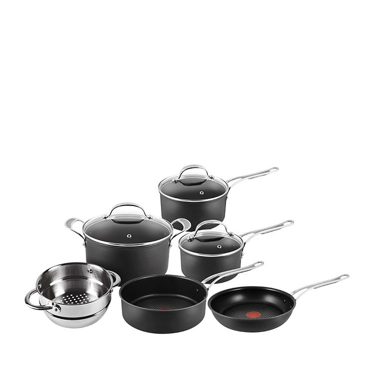 Jamie Oliver Hard Anodised Induction Professional Series 5pc Cookware Set w/ Bonus Steamer