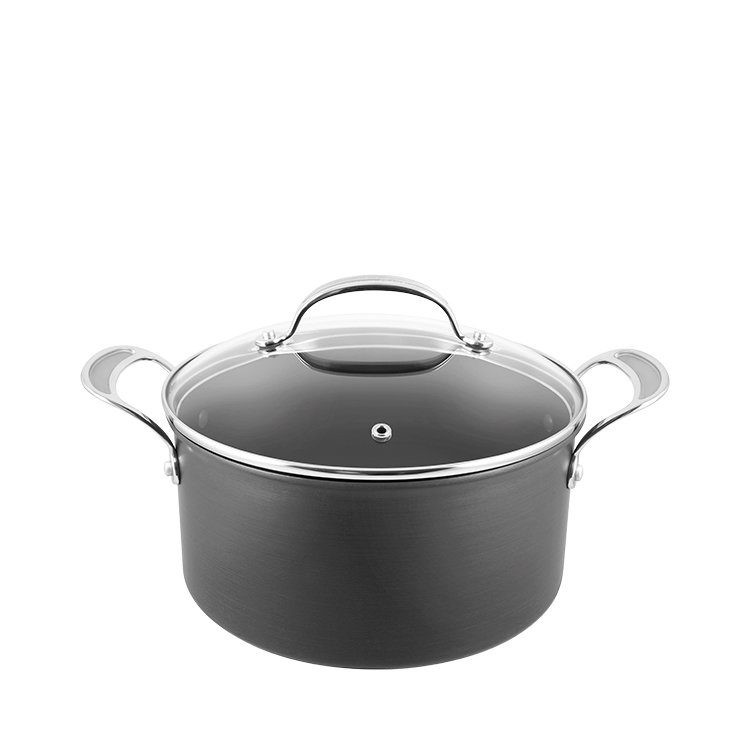 Jamie Oliver Hard Anodised Induction Professional Series Stewpot w/ Lid 24cm