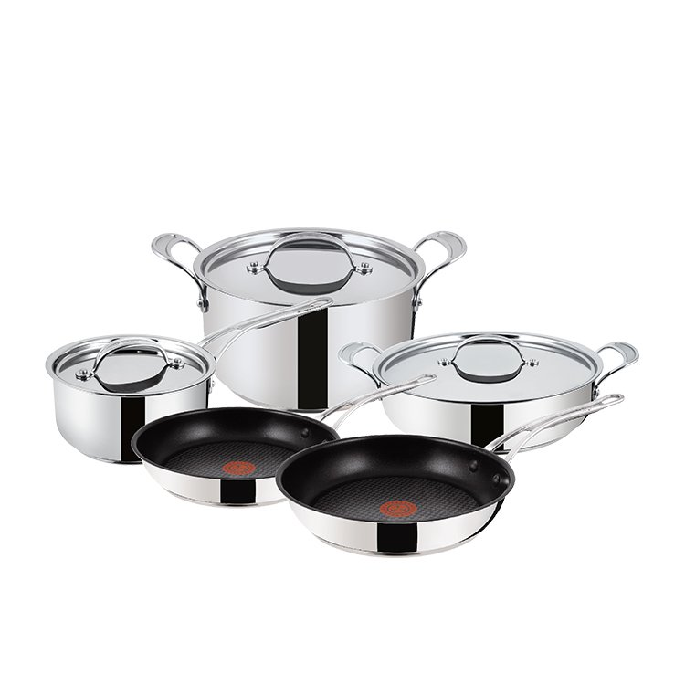 Jamie Oliver Premium Stainless Steel 5pc Cookware Set