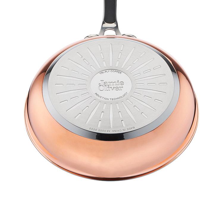 Jamie Oliver Premium Triply Copper Frypan 24cm