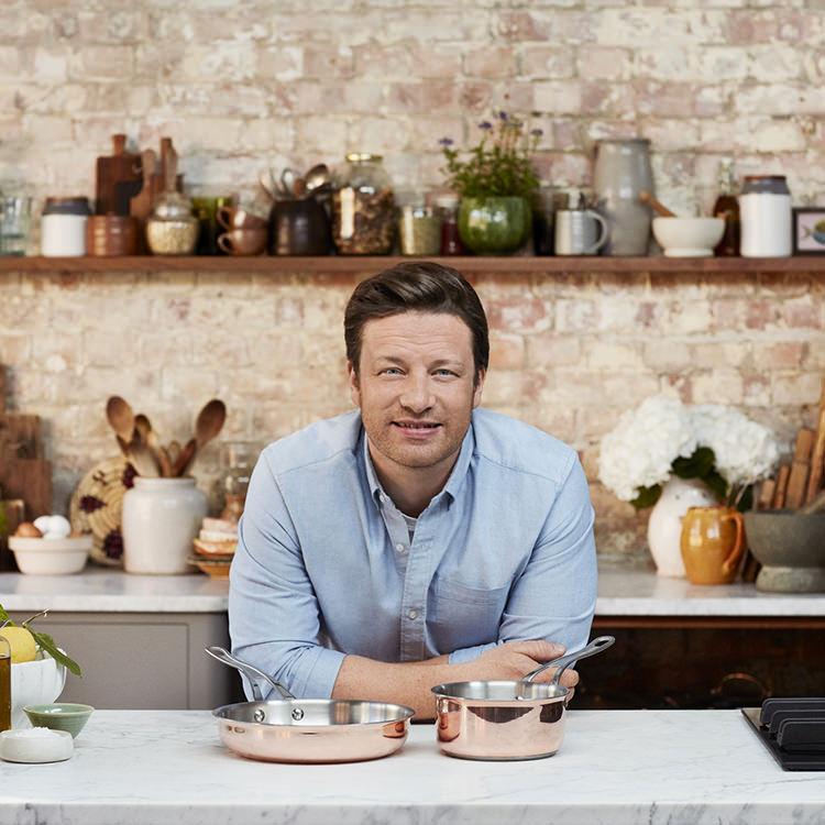 Jamie Oliver Premium Triply Copper Frypan 28cm