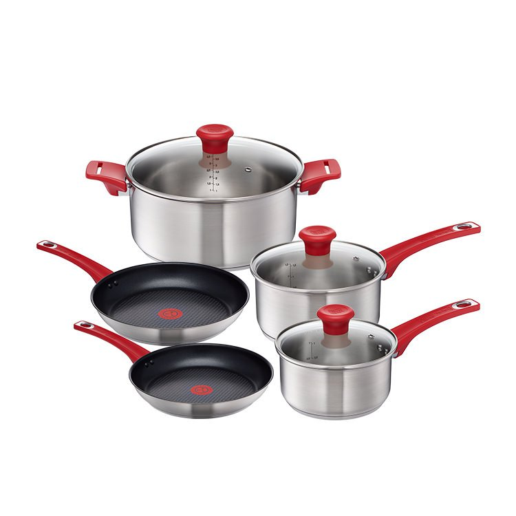 Jamie Oliver Red Collection Stainless Steel 5pc Cookset