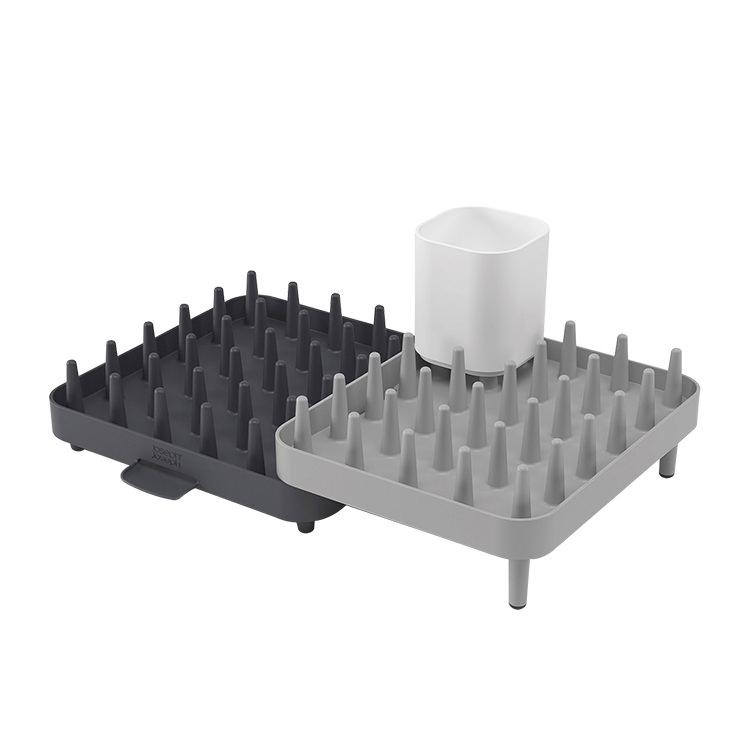 Joseph Joseph Connect Adjustable Dish Rack 3pc Set Grey