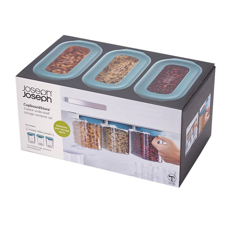 Joseph Joseph CupboardStore 3pc Food Storage Set 1.3L Dark Opal