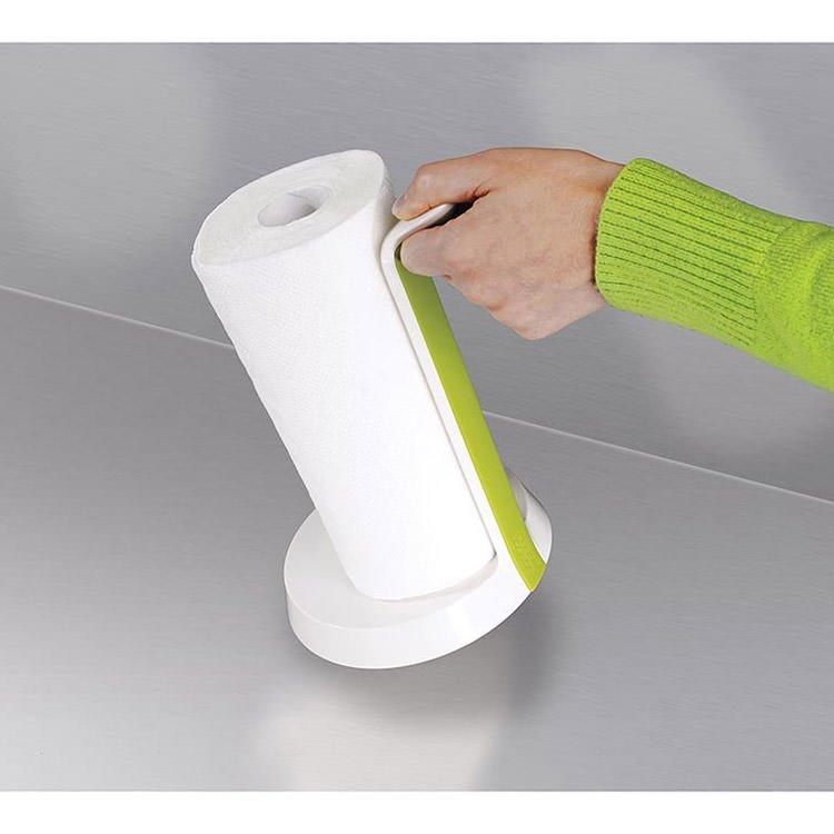 Joseph Joseph Easy Tear Kitchen Roll Holder White/Green image #5