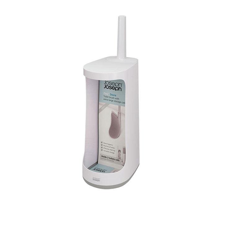 Joseph Joseph Flex Toilet Brush w/ Large Storage Caddy Grey/White