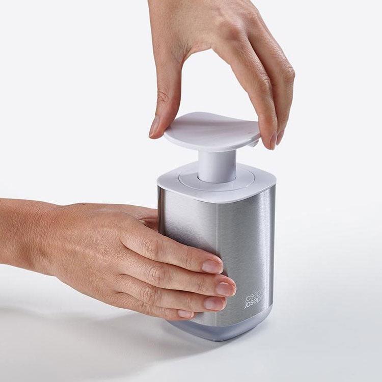 Joseph Joseph Presto Steel Soap Dispenser White