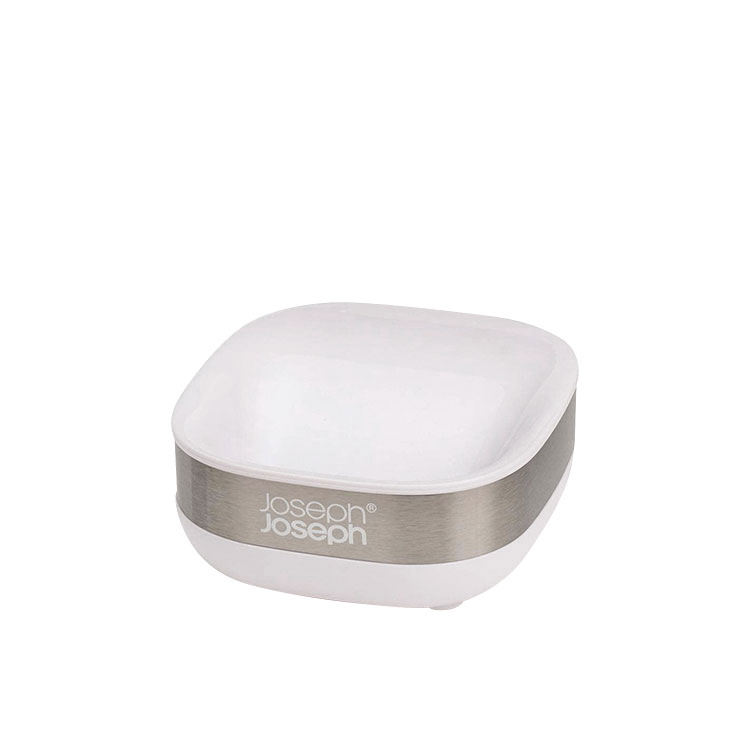 Joseph Joseph Slim Steel Soap Dish White