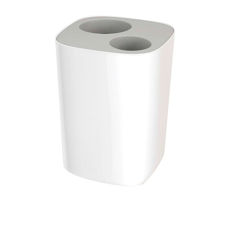 Joseph Joseph Split Bathroom Waste Seperation Bin Grey