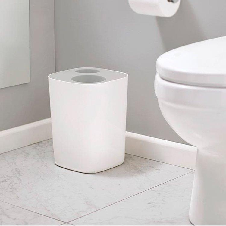 Joseph Joseph Split Bathroom Waste Seperation Bin Grey