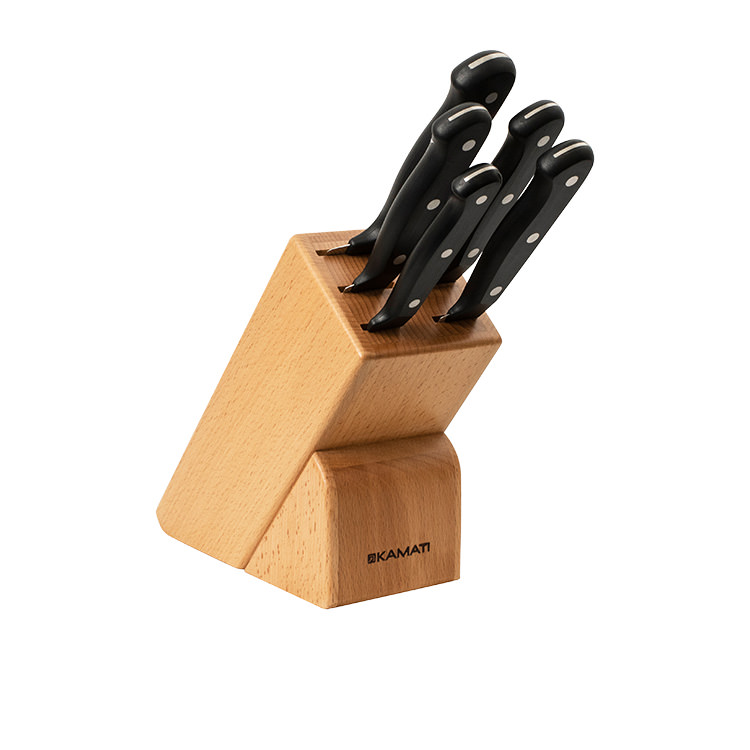 Kamati Gourmet 6pc Knife Block Set