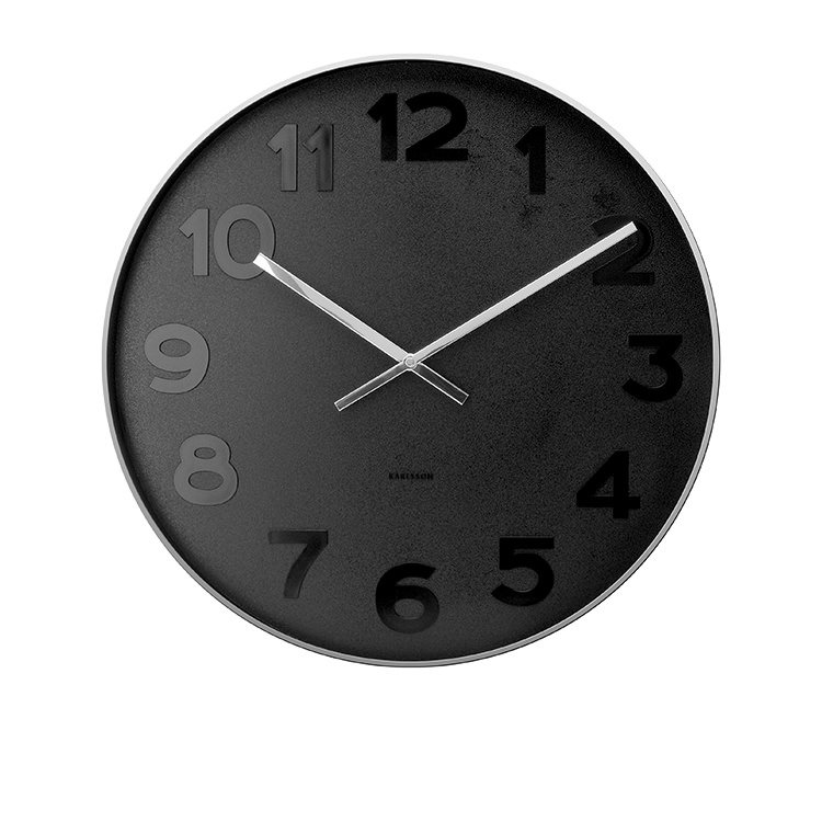 Karlsson Mr Black Numbers Wall Clock Large Fast Shipping