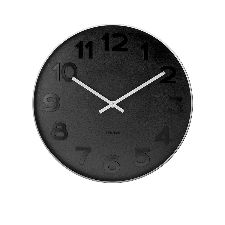 karlsson mr black numbers wall clock small fast shipping. Black Bedroom Furniture Sets. Home Design Ideas