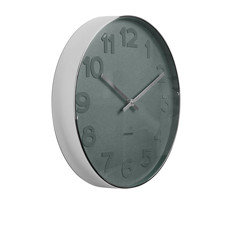 Karlsson Mr Blue Numbers Wall Clock Large Fast Shipping