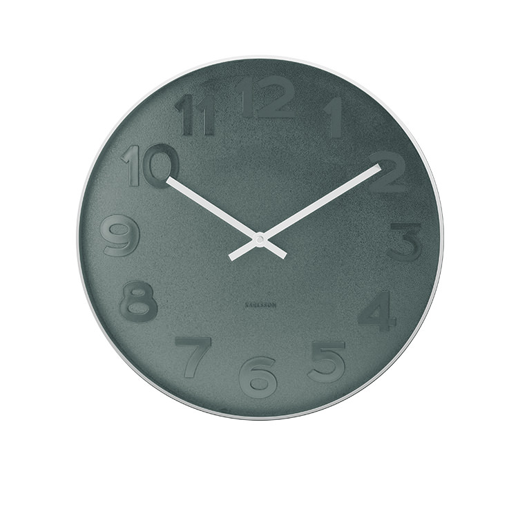 Karlsson Mr Blue Numbers Wall Clock Small