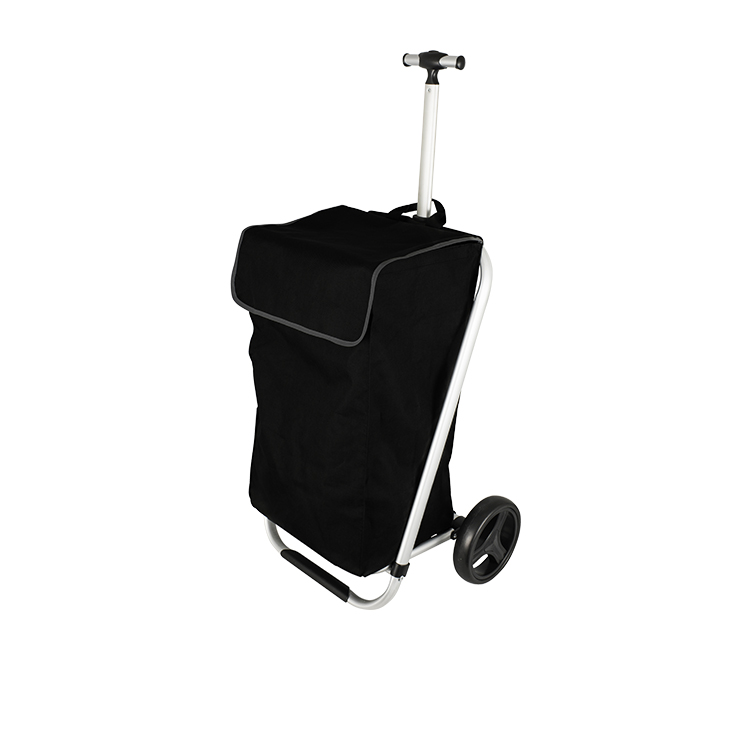 Karlstert Telescopic Handle Shopping Trolley Black