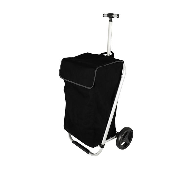 Karlstert Telescopic Handle Shopping Trolley Black