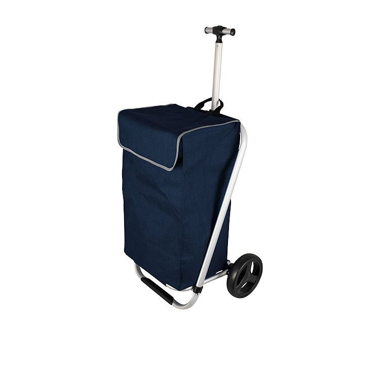 Karlstert Telescopic Handle Shopping Trolley Navy