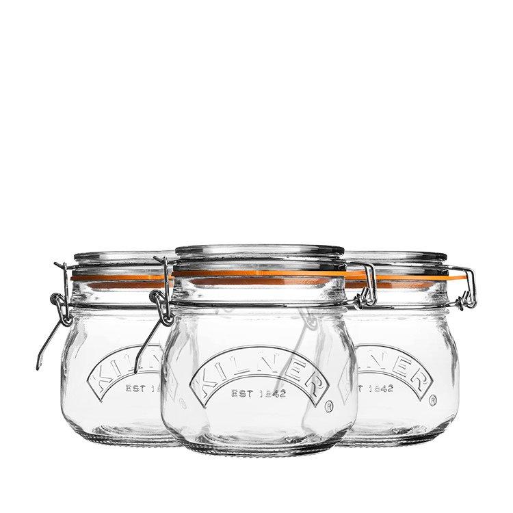 Kilner Clip Jar Round Set of 3 500ml