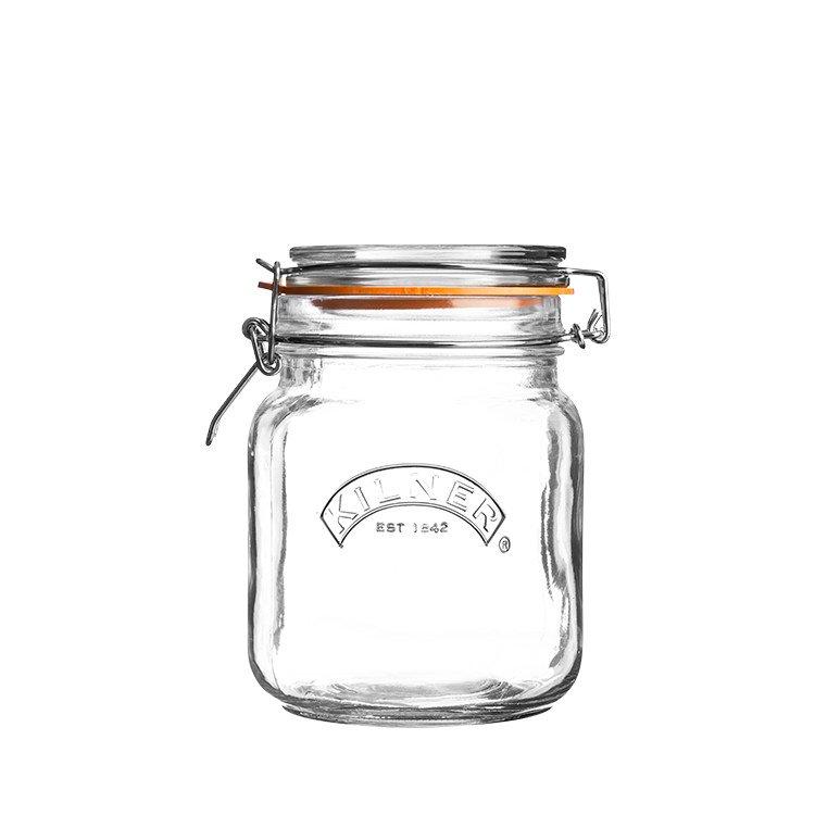 Kilner Clip Top Square Jar 1L