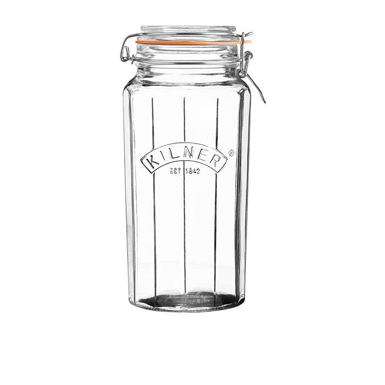 Kilner Faceted Clip Top Jar 1.8L