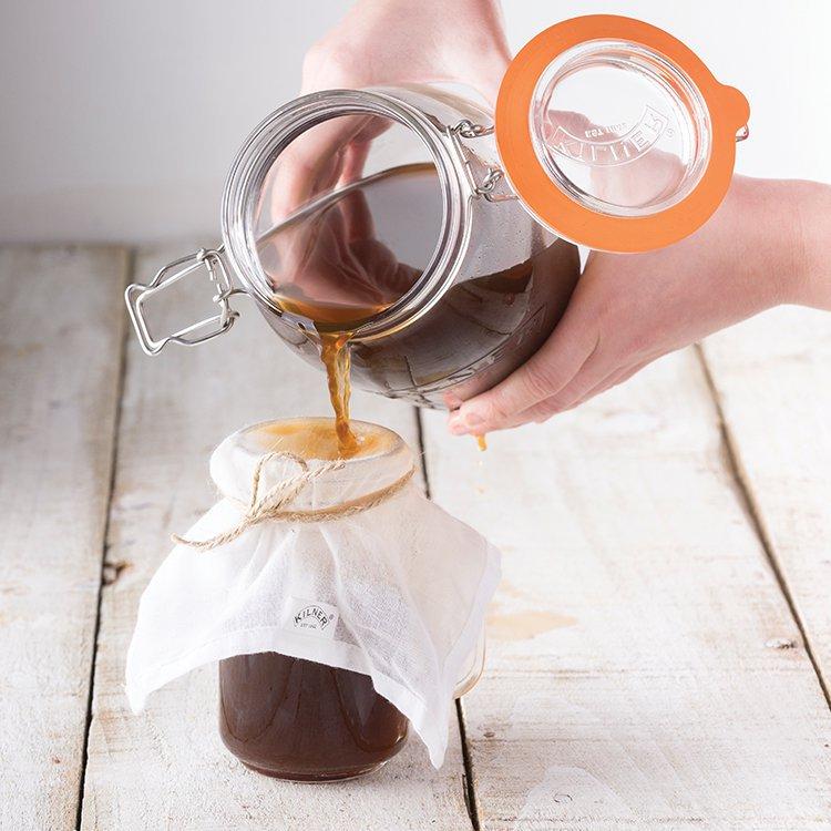 Kilner Clip Jar Round Set of 3 1L