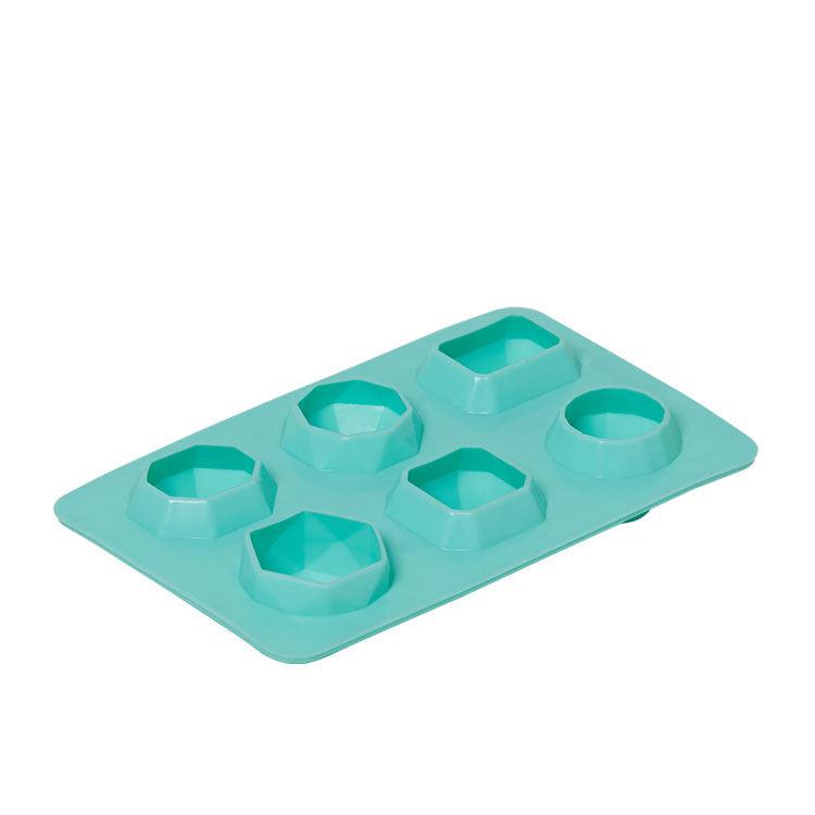 Kitchen Pro 6 Diamond Shape Silicone Ice Tray Green