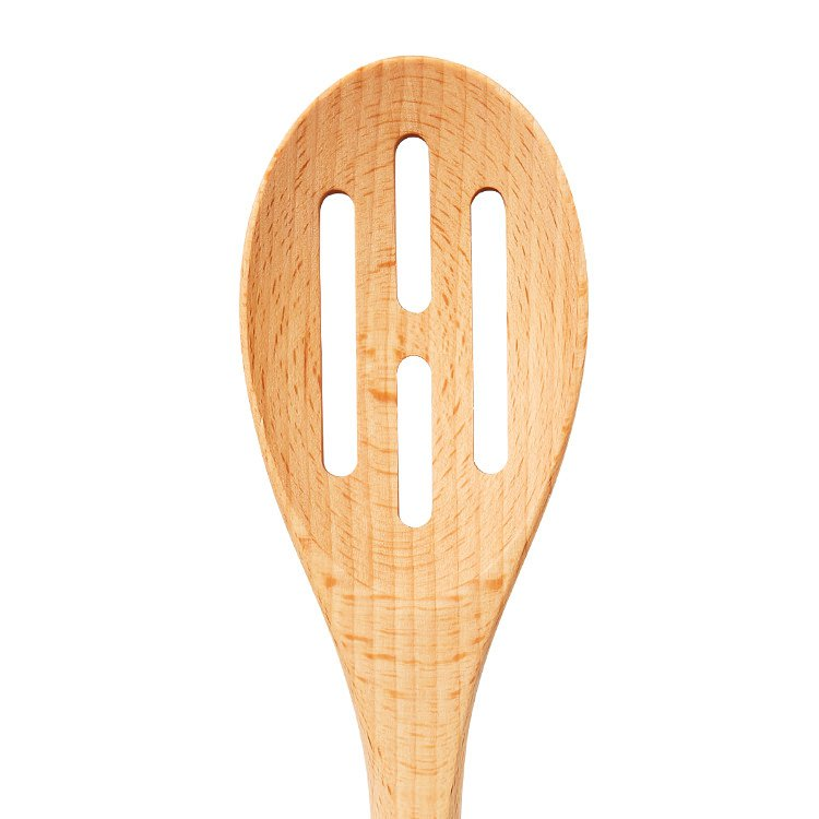 Kitchen Pro Oslo Beech Wood Slotted Spoon