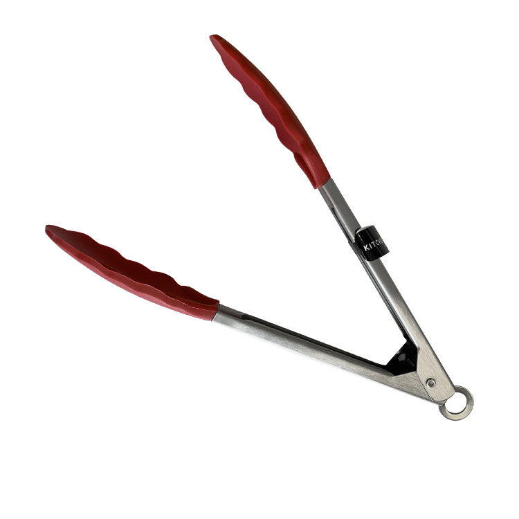 Kitchen Pro Oslo Silicone Tongs 23cm Red