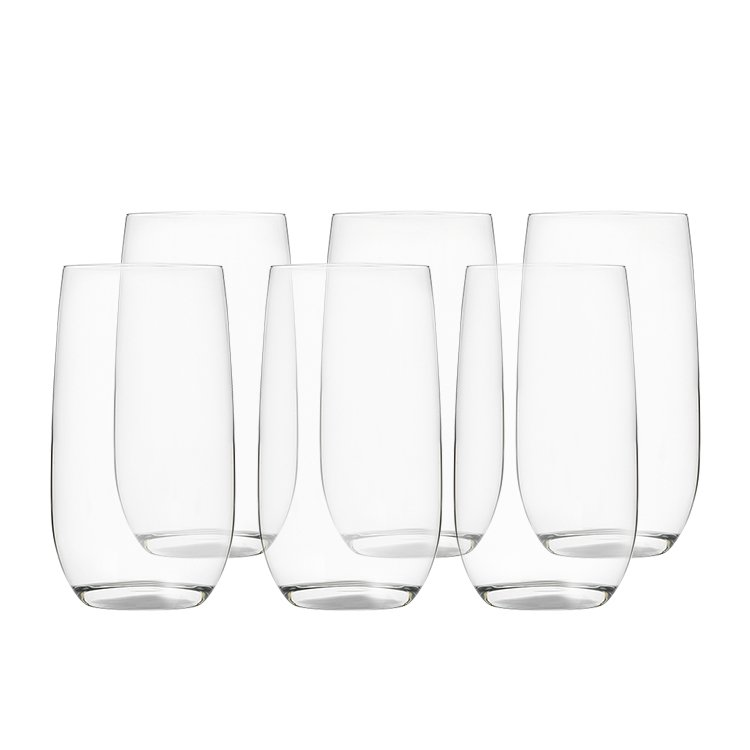 Kitchen Warehouse Hi-Ball Glass 490ml Set of 6
