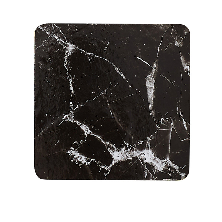 Kitchen Warehouse Marblesque Square Coaster Set of 4 Black