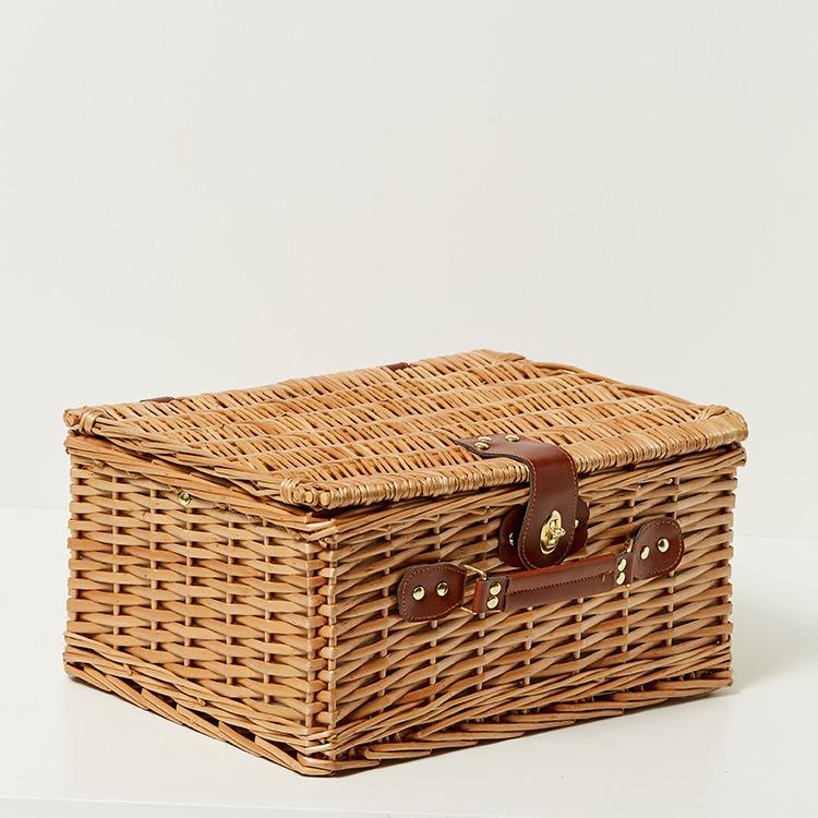 Kitchen Warehouse Oak Picnic Basket 2 Person Denim