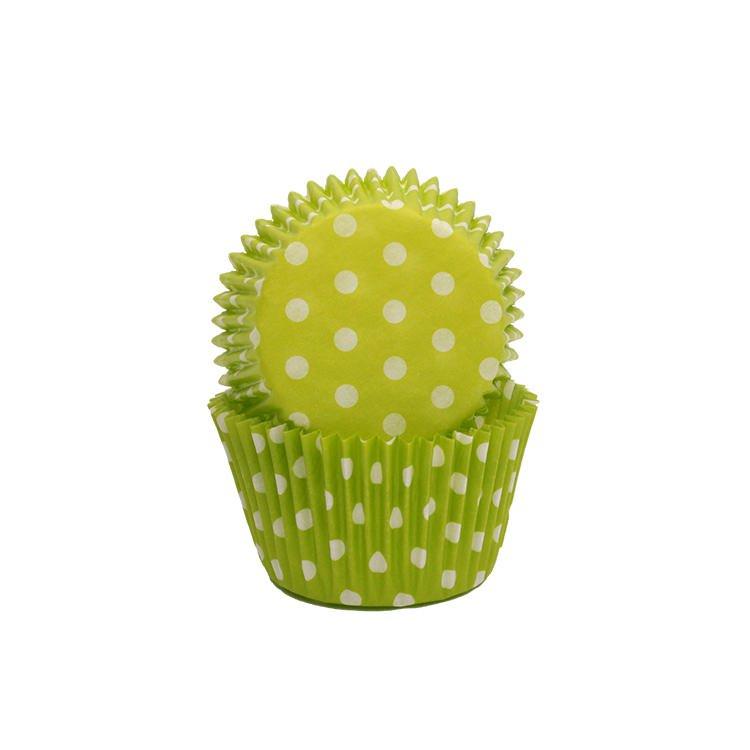 Lemon Tree Patty Pans Polka Dots Green 50pk