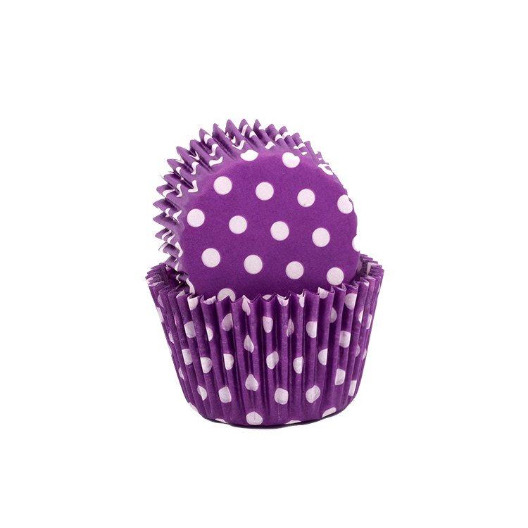 Lemon Tree Patty Pans Polka Dots Purple 50pk