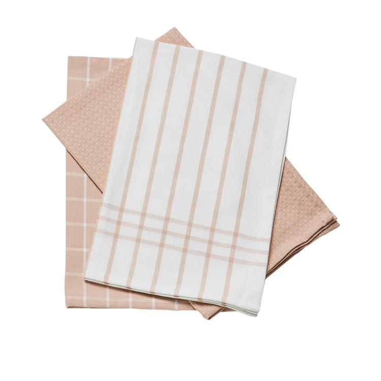 Tidy Pro Pastel Tea Towel Set of 3 Pink