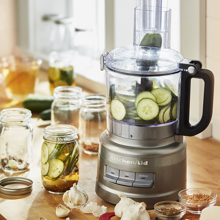 KitchenAid 7 Cup Food Processor Contour Silver
