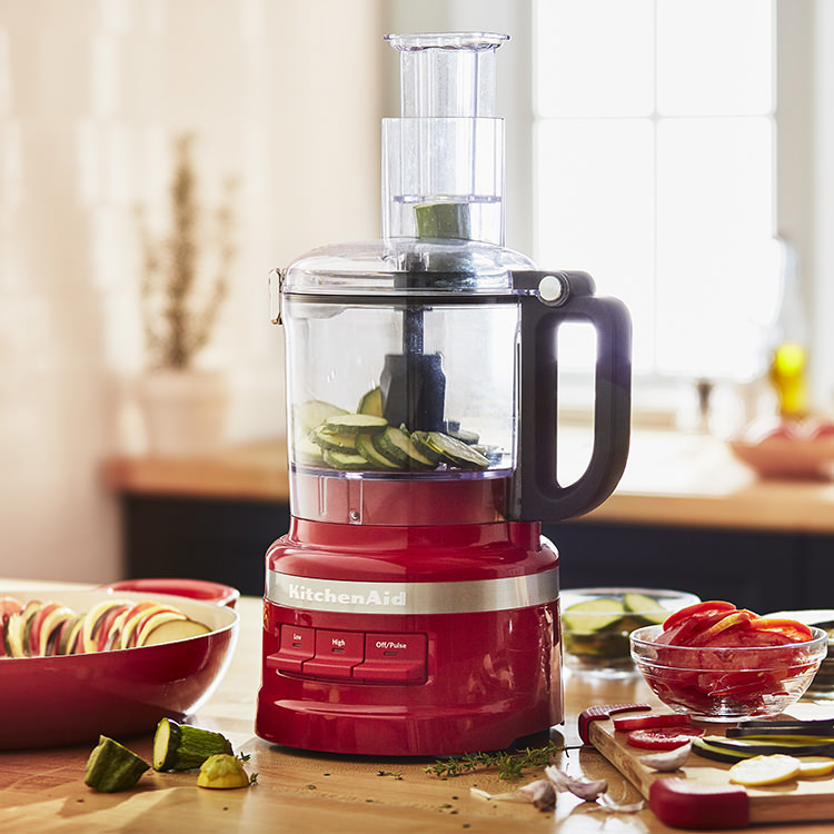 KitchenAid 7 Cup Food Processor Empire Red